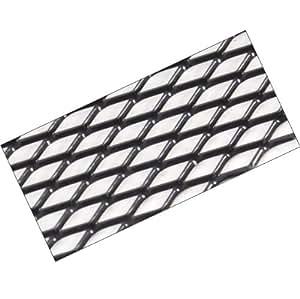 G97 - aluminium Noir Mesh de course sport Alu-métal déployé grille Mesh Grill Fairing insert 120x20cm  pour les pare-chocs spoiler ventilation grill