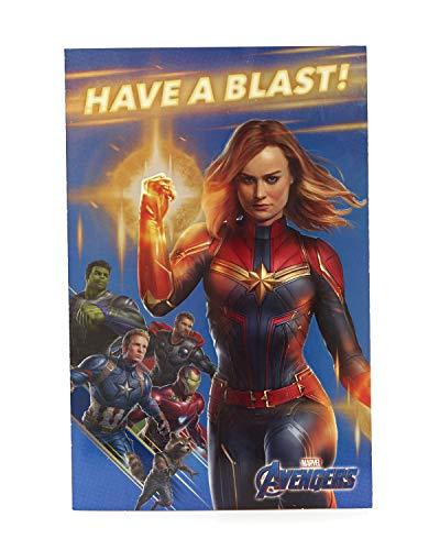 Avengers Geburtstagskarte - Ideales Geschenk für Sie - Avengers Endgame - Avengers mit Captain Marvel, Captain America, Hulk, Thor, Iron Man, Rakete Waschbär - Marvel (Marvel-geburtstag Party Supplies)