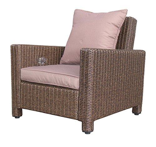 Rattan Lounge Loungesessel 86cm Sessel Sofa Relaxsessel Schlafsessel Braun