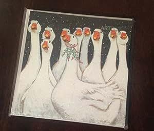 Art beat charity weihnachtskarten goosey gander 6er pack k che haushalt - Weihnachtskarten amazon ...