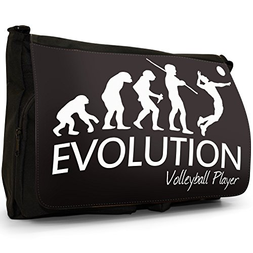 Fancy A Bag Borsa Messenger nero Evolution Of A Skier large Evolution Of A Volleyball Player