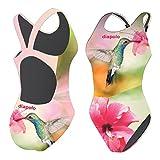 Diapolo Colibrì Costume da Bagno dalla Collezione Wild Animals per Nuoto Sincronizzato Nuoto pallanuoto thriathlon, S