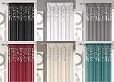 Arran, Transparente Gardine, Metallisch Voile, Vorhänge, Dekoschal, Weiß, 145cm x 183cm