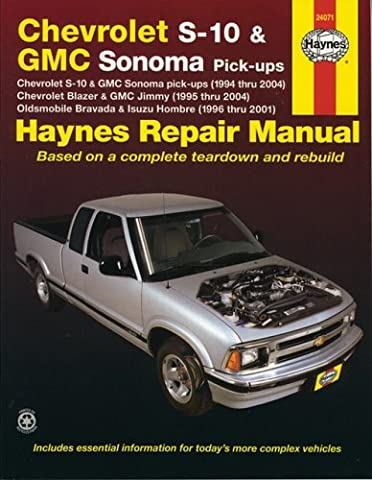 Chevrolet S-10 And Gmc Sonoma Pick-ups, Chevrolet Blazer And Gmc Jimmy, Oldsmobile Bravada And Isuzu Hombre, 1994-2001
