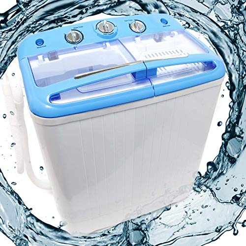 WilTec Camping Waschmaschine 5,2 kg für Normalwäsche, Feinwäsche und Schleudern