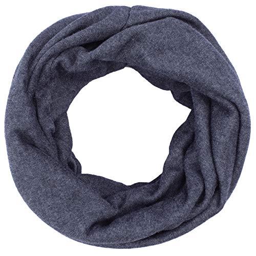 Anvey sciarpa a tubo donna e uomo sciarpa fine in maglia tinta unita foulard unisex scaldacollo multi-uso sciarpa e berretto 2 in 1 invernale antivento e caldo gray