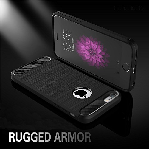 Nutbro iPhone 6 Plus Case,iPhone 6S Plus Carbon Fiber Case Super Slim Smooth [Carbon Fiber] Armor Case Cover , Anti Fingerprints Case Soft TPU Case Mint Color WL-6-Plus-21