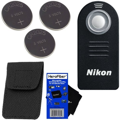 Nikon ML-L3 Wireless Remote Control with Storage Case for D40, D40X, D50, D60, D70, D70S, D80, D90, D600, D610, D3000, D3200, D5000, D5100, D5200, D5300, D7000, & D7100 SLR Digital Cameras, 1 AW1, 1 J1, 1 J2, 1 V1, & 1 V2 Compact System Cameras, COOLPIX A  available at amazon for Rs.5632