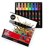 POSCA Colouring - PC-5M Pastel Coloured Set of 8 - In Gift Box