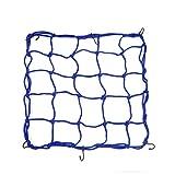 1 Stück 45x45 cm Blau Bungee Helm Cargo Gepäcknetz Waren Net für Auto Motorrad