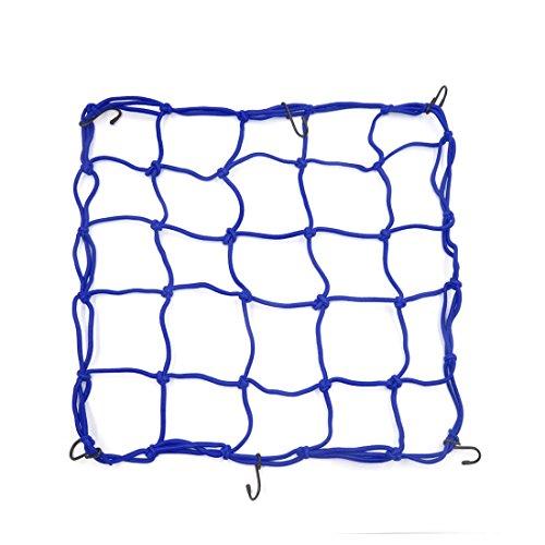 1 Stück 45x45 cm Blau Bungee Helm Cargo Gepäcknetz Waren Net für Auto Motorrad (Net Helm)