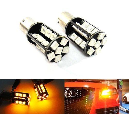 Preisvergleich Produktbild 2x Bernstein 581PY21W BAU15s Glühbirne 30SMD LED Standlicht Blinker vorne hinten Kontrollleuchte Luffy