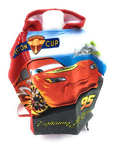 CARS FLASH MAC QUEEN Badeponcho–Cape de Bain–Mikrofaser 100% Polyester–110x 55cm–Cars–Disney–Flash MC ()
