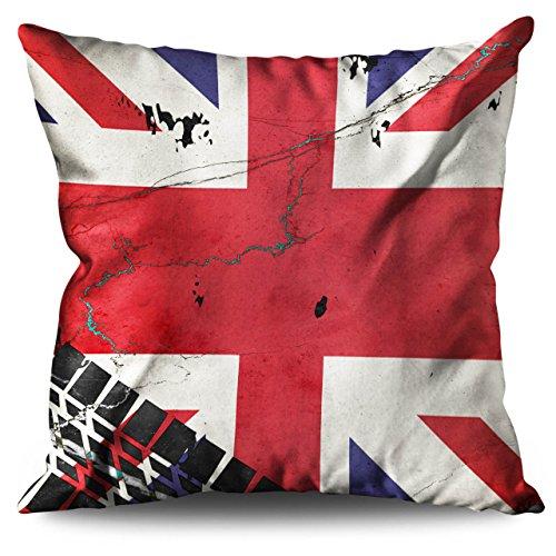 Wellcoda Union Jack Flagge London Vereinigtes Königreich Leinen Kissen 40cm x 40cm