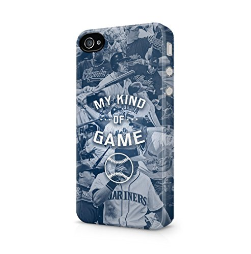Maceste Baseball is My Kind of Game Kompatibel mit iPhone 4 / iPhone 4S SnapOn Hard Plastic Phone Protective Fall Handyhülle Case Cover (Baseball Iphone 4 Fall)