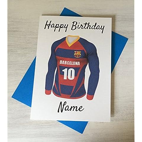 Barcelona Football compleanno personalizzabile con qualsiasi nome e numerati Shirt - Custodia Regalo Personalizzato Scheda