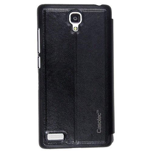 Casotec Premium Caller Id Flip Case Cover for Xiaomi Redmi Note / Xiaomi Redmi Note 4G - Black  available at amazon for Rs.175