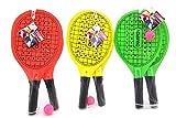 Globo Toys Globo–3761342,7x 20,8x 0,8cm 3Farbe Sommer Beach Schläger mit Ball