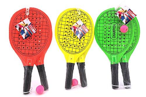Preisvergleich Produktbild Globo Toys Globo–3761342,7x 20,8x 0,8cm 3Farbe Sommer Beach Schläger mit Ball