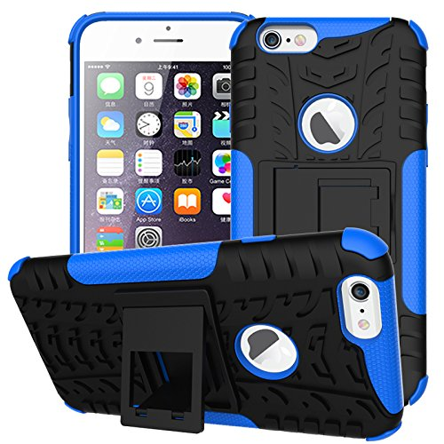 BCIT iPhone 6 6S Cover - Alta qualità Doppio Strato ibrido Cellulari Case Custodia protettivo Per iPhone 6 6S - Nero Blu