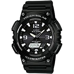 Casio Men's Quartz Watch with Analogue Digital Display and Resin Bracelet