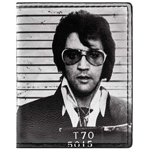 Kostüm Elvis Alte - Elvis Presley The King of Rock & Roll Foto Schwarz Portemonnaie Geldbörse