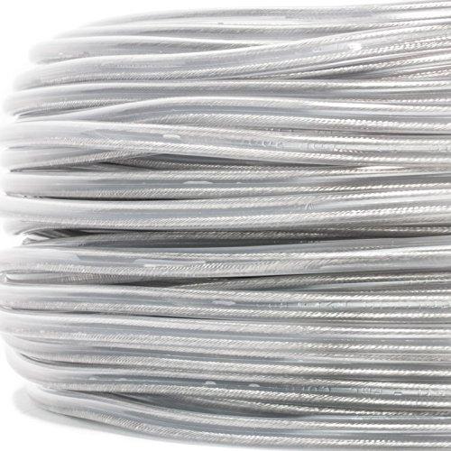Preisvergleich Produktbild PVC/PVC Rundkabel transparent, 2x0,75mm² - Made in EU | sehr flexibel - Meterware - Preis pro Meter