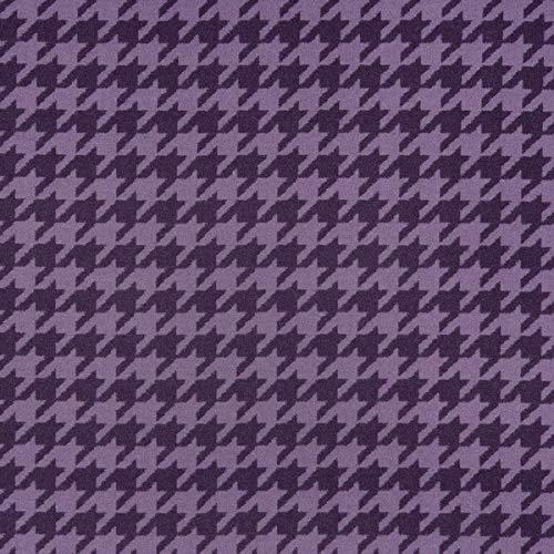 Decoración inglesa para muebles, tela ignífuga, diseño de lana de Shetland, color lila, patrón de peptamam, como tela resistente para coser y coser, lana virgen, absorción de ruido, oscurecimiento