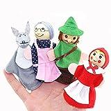 Vi.yo Rotkäppchen Fingerpuppen Set Handschuhe Schöne Märchen Finger Baby Spielzeug Puppen Lernspielzeug, Set von 4 Stück