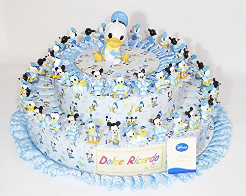 Torta disney 54 fette e centrale azzurra
