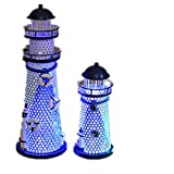 Livecity Hobby, Deko Leuchtturm, zu Hause, Dekoration, Eisen, mehrfarbig, 285 mm