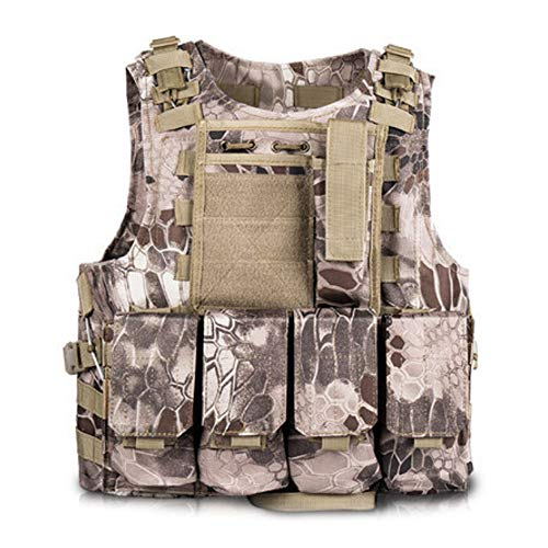 sche Weste Camouflage Kampfweste Outdoor Cs Feldspiel Kampf Security Guard Weste Kampfsport Training Schutz ()