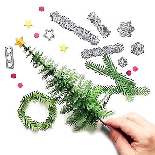 ablonen Metall Stanzformen 3D Weihnachtsbaum Grußkarte für DIY Scrapbooking Album Papier Karten Sammelalbum Deko Lehrertag Hochzeit Weihnachten Halloween Geschenk ()