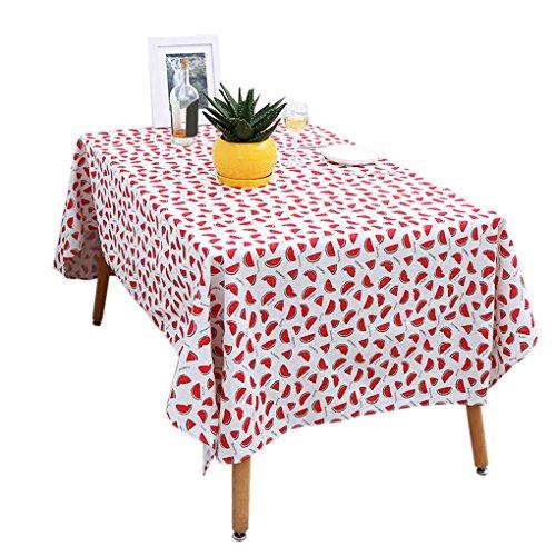 kakiyi 140x100cm/140x140cm Wassermelone Muster Tischdecke Baumwolle Leinen Gewebe Tischdecke Abdeckung Photogragh Props