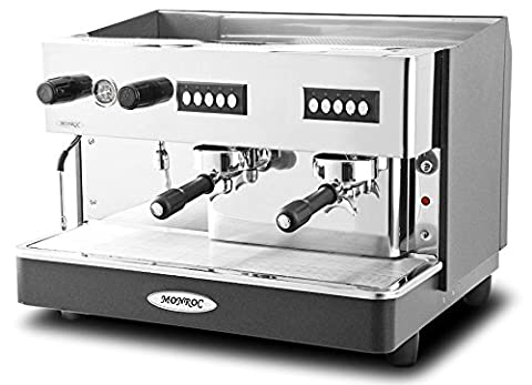 Monroc Heavy Duty 2 Group Espresso Coffee Machine /Commercial Kitchen Cafe Restaurant Coffee Shop Traditional Espresso Coffee Machine
