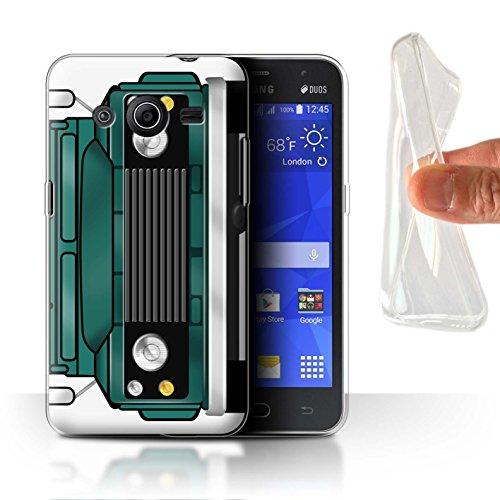 cd66601cbed Stuff4® Gel TPU Hülle/Case für Samsung Galaxy Core 2 / Dreizack Grün Muster