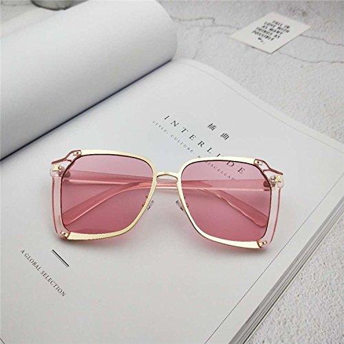 Sunyan Sonnenbrillen für die Alten Männer und Frauen allgemein Tinte Spiegel Persönlichkeit unregelmäßige Brillen, Pulver Frame Pulver