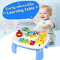 ACTRINIC Mesa Musical De Estudio Juguete Para Bebés De 6 A 12 Meses Juguete De Educación Temprana Juguete Musical Mesa De Juego Juguete Para Niños De 1,2,3 Años-Sonidos y Luces Diferentes(Nuevos Regalos para bebés)