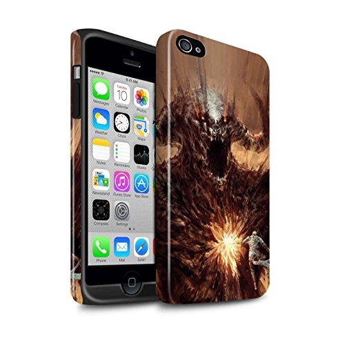 Offiziell Chris Cold Hülle / Glanz Harten Stoßfest Case für Apple iPhone 4/4S / Teufel/Tier Muster / Wilden Kreaturen Kollektion Herzensucher
