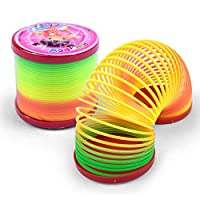 Jumping Spring Rainbow Colored Toys