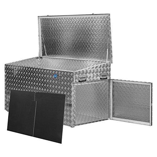 Alutec Transportkiste Werkzeugkiste Riffelblech Aluminium 70 - 470 L Größenwahl (883 L)
