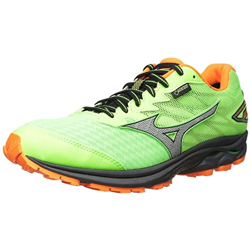 Mizuno Mens Wave Rider 20 Gore -Tex Running Shoe ( Green/Orange ) (8 UK)