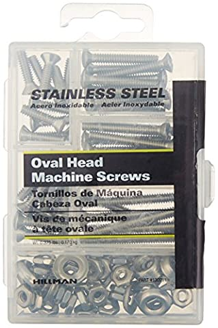 The Hillman Group 130211 Steelworks Small Stainless Steel Phillips Machine Screw Kit by The Hillman