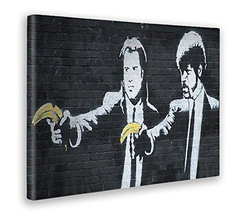 Giallo Bus - Cuadro - Prensa Sobre Tela Canvas - Banksy