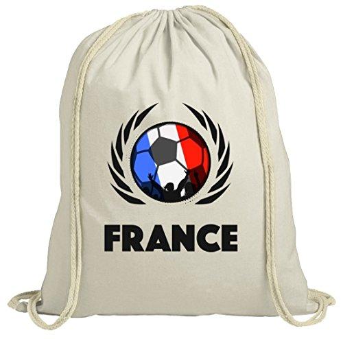France Wappen Soccer Fussball WM Fanfest Gruppen Fan natur Turnbeutel Gym Bag Fußball Frankreich Natur