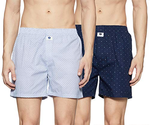 Amazon Brand - Symbol Men's Printed Boxers (Pack of 2)(SYMBXPO2-32_3825 & 3868_Multicolor_Small)