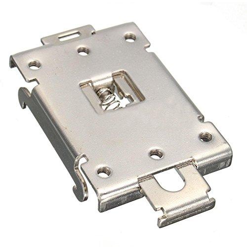 Price comparison product image SODIAL(R) DIN Rail Mount Bracket Equipment Rack G3NE G3NA Electrical for SSR R99-12 Fins