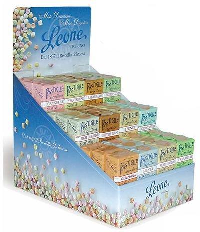 ESPOSITORE LEONE DIGESTIVE Caramelle aromatiche assoritite 36 Astucci