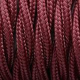 Câble électrique torsadé 3 fils torsadé 3 fils torsadés 10 m, bordeaux, 5M 3Core Twisted, vintage cable