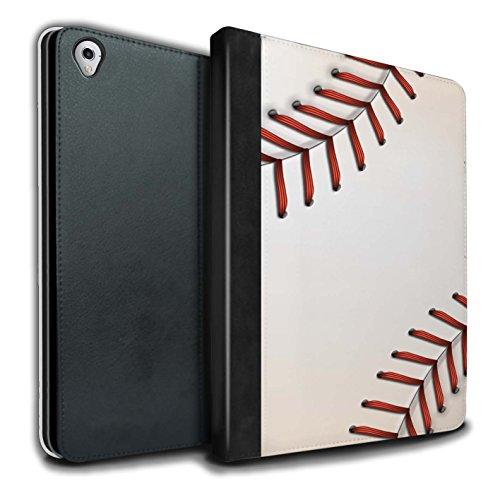 Stuff4® PU-Leder Hülle/Case/Brieftasche für Apple iPad Pro 9.7 Tablet/Baseball Muster/Sport Bälle/Ball Kollektion (Baseball-haut)